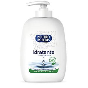NEUTRO ROBERTS Sapone Liquido Idratante con glicerina, Flacone con erogatore 200 ml