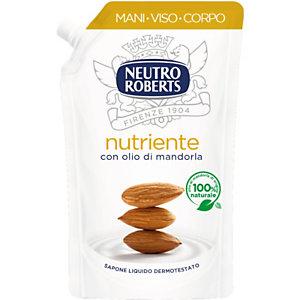 NEUTRO ROBERTS Sapone Liquido Nutriente con Olio di Mandorla, Ecoricarica 400 ml