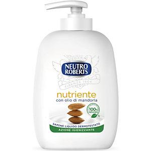 NEUTRO ROBERTS Sapone Liquido Nutriente con Olio di Mandorla, Flacone con erogatore 200 ml