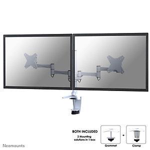 "Newstar Soporte de escritorio para monitor, 9 kg, 25,4 cm (10""), 68,6 cm (27""), 100 x 100 mm, Ajustes de altura, Blanco FPMA-D1330DWHITE"