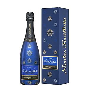 Nicolas Feuillatte - Champagne Brut Réserve Exclusive - Bouteille de 75cl avec coffret cadeau