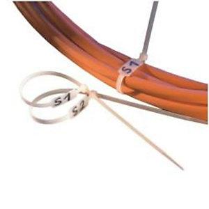 Nilox, Cavi fibra / ethernet / telef., Fascetta cavi con descriz 100pz, RO19.08.3276