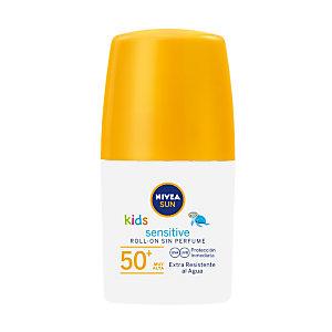 NIVEA Sensitive Kids Protect & Play Protector solar en roll on, FP 50+, 50 ml