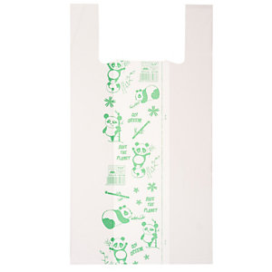 No Brand Shoppers Maxi - 30x60 cm - mater-bi - bianco - scatola 500 pezzi