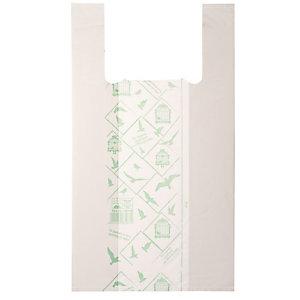 No Brand Shoppers Midi - 28x50 cm - mater-bi - bianco - scatola 500 pezzi