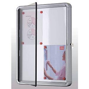 Nobo Bacheca per esterno Premium, Superficie magnetica, Cornice in alluminio, 4 fogli formato A4, cm 53 x 4,5 x 69 h