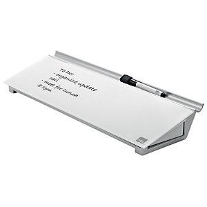 NOBO Bloc-notes personnel, surface en verre trempé, 60 x 460 mm, blanc brillant