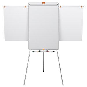 Nobo chevalet Shark et tableau blanc mobile, surface magnétique en acier, cadre en aluminium, 1000x685mm