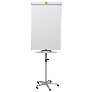 Nobo Classic, chevalet en acier et tableau blanc mobile, surface magnétique en acier, cadre en aluminium
