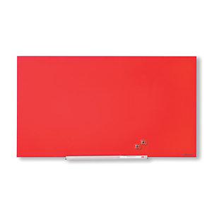 Nobo Diamond, Lavagna da parete, Superficie magnetica in vetro, 993 x 559 mm, Rosso