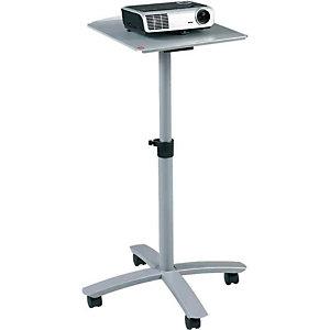NOBO Multimedia projectietrolley, één plateau, projectorstandaard, grijs
