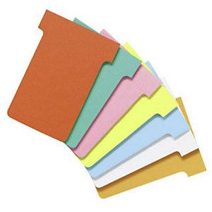 """Nobo Paquets de 100 fiches """"T"""" planning  T1,5 orange"""