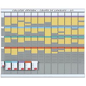 Nobo planning à fiches T2 - 13 colonnes - 80 x 66 cm