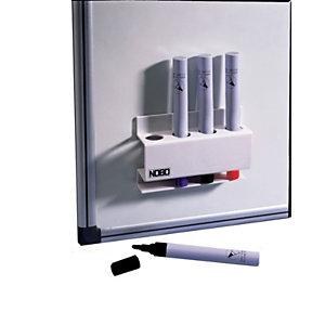 Nobo Porte-marqueurs magnétique rectangulaire 12,1 x 8,6 x 3,8 cm - Blanc
