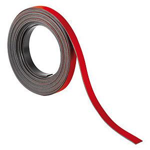 Nobo Ruban magnétique 0.5 cm X 2 m  - Rouge