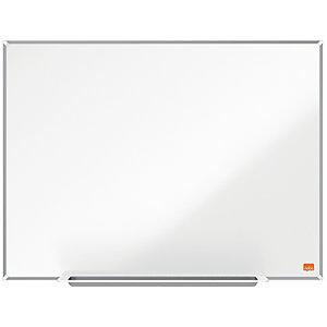 Nobo Tableau blanc mural en acier laqué magnétique Nano Clean - Cadre en aluminium 6 mm - 90 x 60 cm