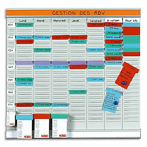 NOBO VALREX Planning OFFICE PLANNER 7 bandes de 24 fiches indice 2 + 1 band index