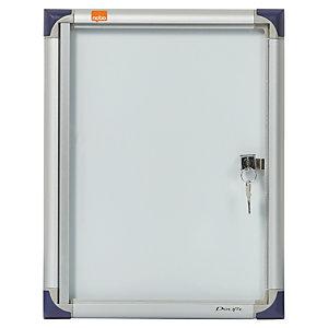 Nobo Vitrine d'intérieur extra-plate porte-battante fond magnétique, 1 feuille A4, dimensions L25,5 x H34 x P2,2 cm