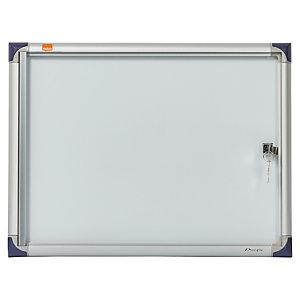 Nobo Vitrine d'intérieur extra-plate porte-battante fond magnétique, 2 feuilles A4, dimensions L51 x H34 x P2,2 cm
