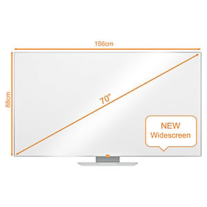 Nobo Widescreen Lavagna da parete Nano Clean™, Superficie magnetica in acciaio, 1561 x 883 mm