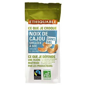 Noix de cajou grillés à sec Ethiquable, paquet de 100g