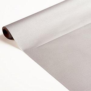 Non-woven tafelloper op rol van 0,40 x 10 m, kleur metaalzilver