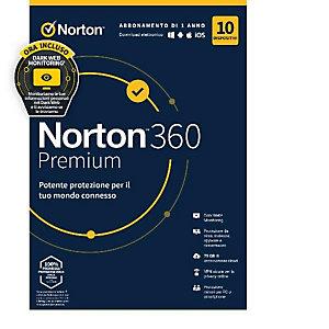 Norton, Software box, Norton 360 premium 2020 10dev 1y, 21397805