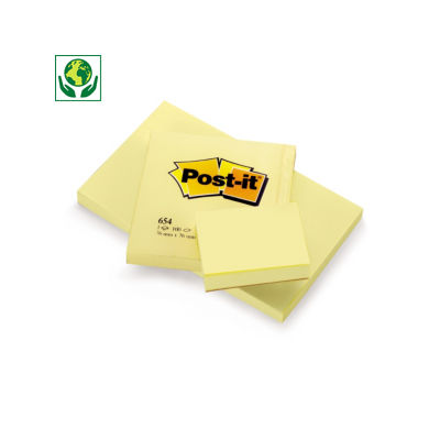 Notas reposicionables amarillas Post-it