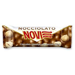 NOVI Barretta Nocciolato al Gianduja, Cioccolata Gianduja con Nocciole intere, 30 grammi