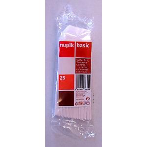 NUPIK Cucharillas de café desechables de plástico blancas, paquete de 25