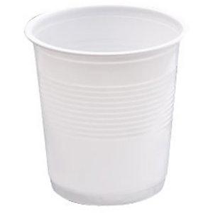 NUPIK NPK Vasos de plástico desechables de polipropileno blancos de 100ml, paquete de 50