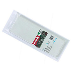 NUPIK Rollo de mantel desechable blanco 1 x 1m, paquete de 10