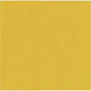 NUPIK Servilletas desechables, 2 capas, 33 cm, amarillo