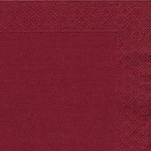 NUPIK Servilletas de papel de dos capas, desechables, 330 x 330mm, burdeos, 50 en cada pack