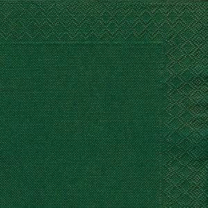NUPIK Servilletas de papel de dos capas, desechables, 330 x 330mm, verdes, 50 en cada pack
