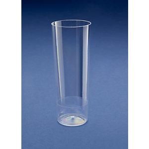 NUPIK Slim Jim Vasos de trago largo de plástico desechables de gran calidad transparentes de 300ml 56 x 151mm, paquete de 10