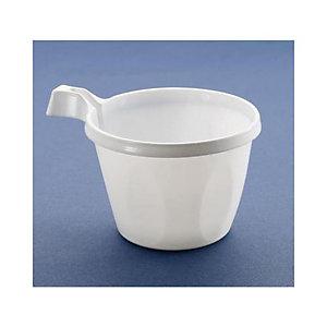 NUPIK Vasos de plástico desechables para café de poliestireno blancos de 200ml, 64 x 78mm, pack de 25