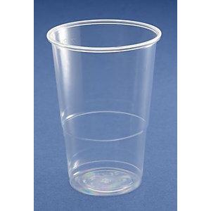 NUPIK Vasos de plástico reciclable transparente de 330 ml 79 x 110 mm