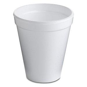 NUPIK Vasos térmicos desechables blancos de 200ml 72 x 83mm, paquete de 50
