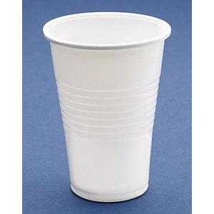 NUPIK VPR Vasos de plástico desechables de polipropileno blancos de 220ml 71 x 94mm, paquete de 25