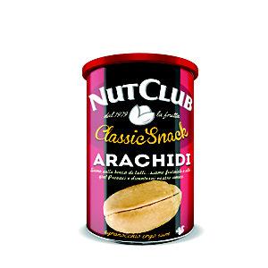 NUT CLUB Classic Snack Arachidi, Tostate e salate, Lattina 180 g