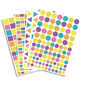 O'COLOR O COLOR Lot de 40 planches, 4170 gommettes pastel et acidulées réparties en 4 formes et 3 tailles.