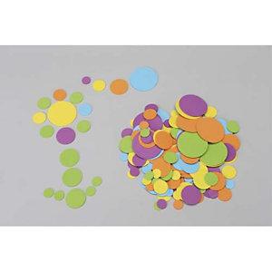 O'COLOR O COLOR Sachet de 200 ronds caoutchouc D1,5/ 2,5 / 3,5/ 5,5 cm Couleurs Vert, Jaune, Bleu, Violet, Orange