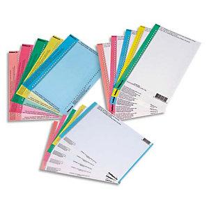 L'OBLIQUE AZ OBLIQUE AZ Sachet de 10 planches étiquettes n°0 réversibles pour dossiers suspendus tiroir. Coloris Bleu