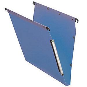 L'oblique Dossier suspendu  PP Ultimate pour Armoires - en Polypropylène - Boutons-pression - Fond U 15 mm - Bleu opaque