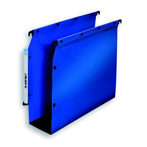 L'oblique Dossier suspendu  PP Ultimate pour Armoires - en Polypropylène - Boutons-pression - Fond U 50 mm - Bleu opaque