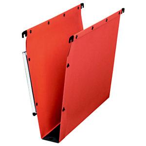 L'oblique Dossier suspendu  Ultimate® pour Armoires - en Kraft - Boutons-pression - Fond U 50 mm - Orange
