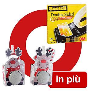 Offerta 1 nastro biadesivo Scotch 665 trasparente, 12 mm x 33 m + 2 saponi da bagno Natale compresi nel prezzo