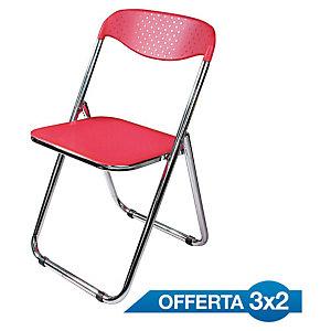 Offerta 3x2 sedie pieghevoli Alma, Polipropilene, Rosso