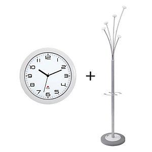 Offerta Orologio Easy Time + Appendiabiti Festy, Colore Bianco